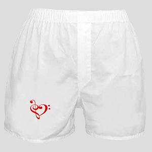 TREBLE MUSIC HEART Boxer Shorts