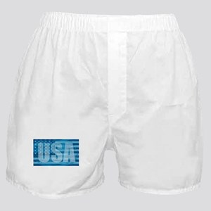 American Flag USA - Blue Boxer Shorts