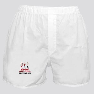 Know.Ask.Tell.Prevent HIV Boxer Shorts