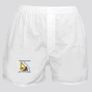 Warning Excavator With An Attitude Boxer Shorts