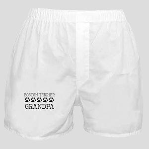 Boston Terrier Grandpa Boxer Shorts