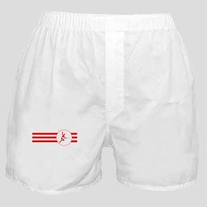 Fencer Stripes (Red) Boxer Shorts