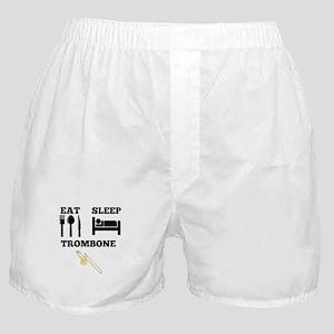 Eat Sleep Trombone Boxer Shorts