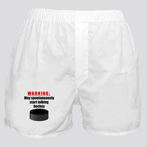 Spontaneous Hockey Talk Boxer Shorts