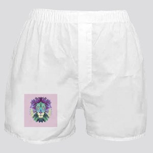 Triangle Colorful Lion Head Boxer Shorts