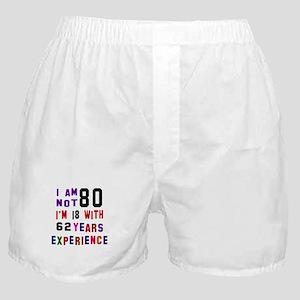 80 Birthday Designs Boxer Shorts