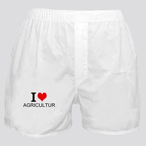 I Love Agriculture Boxer Shorts
