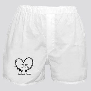 Custom Anniversary Doodle Heart Boxer Shorts