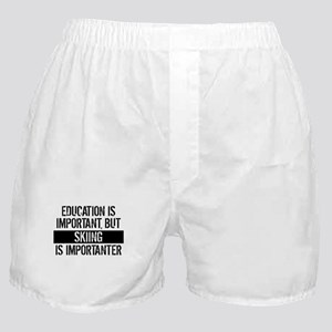 Skiing Is Importanter Boxer Shorts