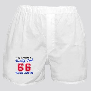 Really Cool 66 Birthday Designs Boxer Shorts