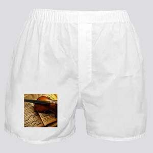 Violin On Music Sheet Boxer Shorts