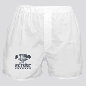 In Trump We Trust Boxer Shorts