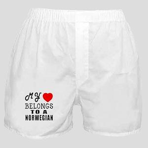 I Love Norwegian Boxer Shorts