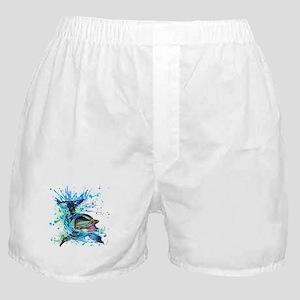 Watercolor Dolphin Boxer Shorts