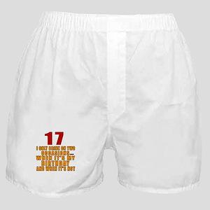 17 birthday Designs Boxer Shorts