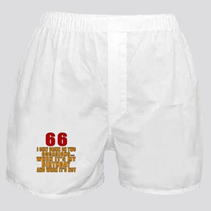 66 Birthday Designs Boxer Shorts