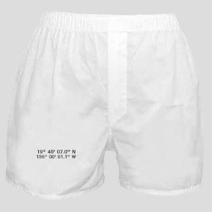 Latitude Longitude Personalized Custom Boxer Short