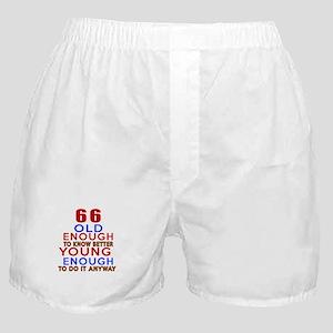 66 Old Enough Young Enough Birthday D Boxer Shorts