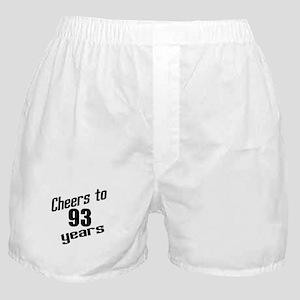 Cheers To 93 Years Birthday Boxer Shorts