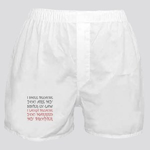 Smile Sister In Law Boxer Shorts