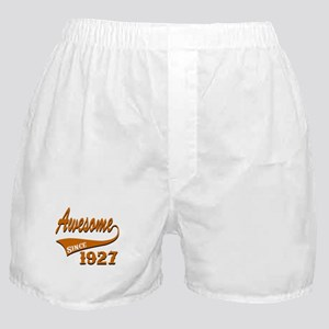 Awesome Since 1927 Birthday Designs Boxer Shorts