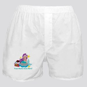 Purple Mermaid Boxer Shorts