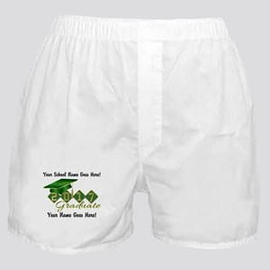 Graduate Green 2017 Boxer Shorts