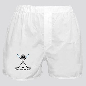 Ice Hockey Personalized Boxer Shorts