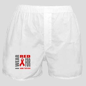 Red Awareness Ribbon Customized Boxer Shorts