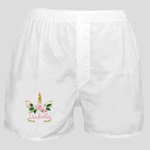 sleeping unicorn personalize Boxer Shorts