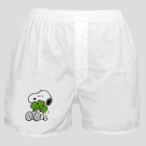Snoopy Hugging Clover Boxer Shorts