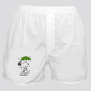 Snoopy Raining Clovers Boxer Shorts