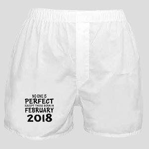 February 2018 Birthday Designs Boxer Shorts