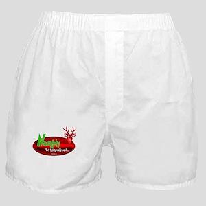 "Naughty,""But Trying Really Gard"" Boxer Shorts"