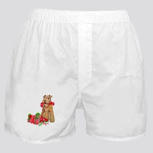 Airedale Terrier Christmas Boxer Shorts