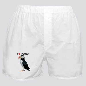 I Luv Puffins Boxer Shorts