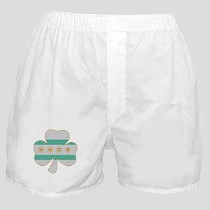 Irish Chicago flag shamrock Boxer Shorts
