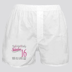 16th Birthday Gifts Boxer Shorts