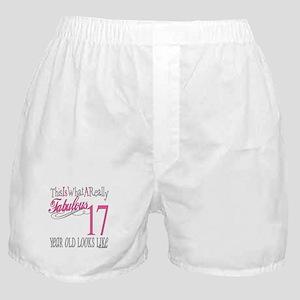 17th Birthday Gifts Boxer Shorts