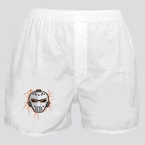Orange Lightning Goalie Mask Boxer Shorts