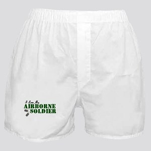 I Love My Airborne Soldier Boxer Shorts