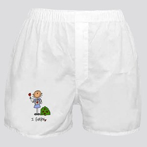 I Garden Stick Figure Boxer Shorts