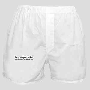 I CAN SEE YOUR POINT BUT I ST Boxer Shorts