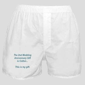 2nd Anniversary Gift Boxer Shorts