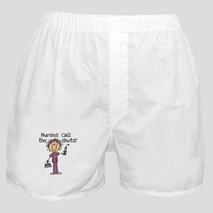 Nurses Call the Shots Boxer Shorts