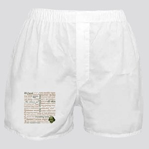 Shakespeare Insults Boxer Shorts