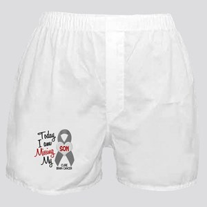 Missing 1 Son BRAIN CANCER Boxer Shorts
