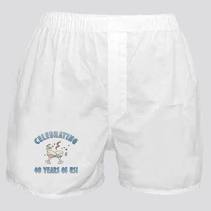 40th Anniversary Party Boxer Shorts