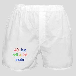 Fun 40th Birthday Humor Boxer Shorts