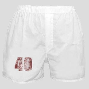40th Birthday Red Grunge Boxer Shorts